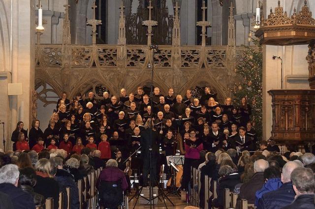 Münsterchor singt Weihnachtsoratorium und Schubert-Messe