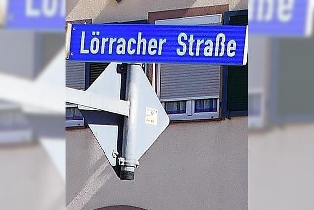 Teilsperrung der Lörracher Straße
