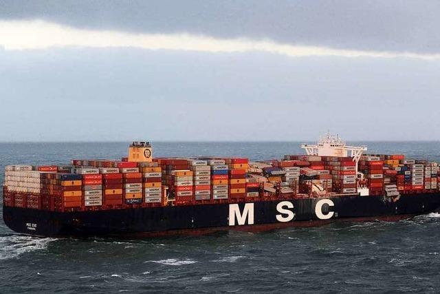 270 Container in der Nordsee verloren - Warnmeldung für Borkum