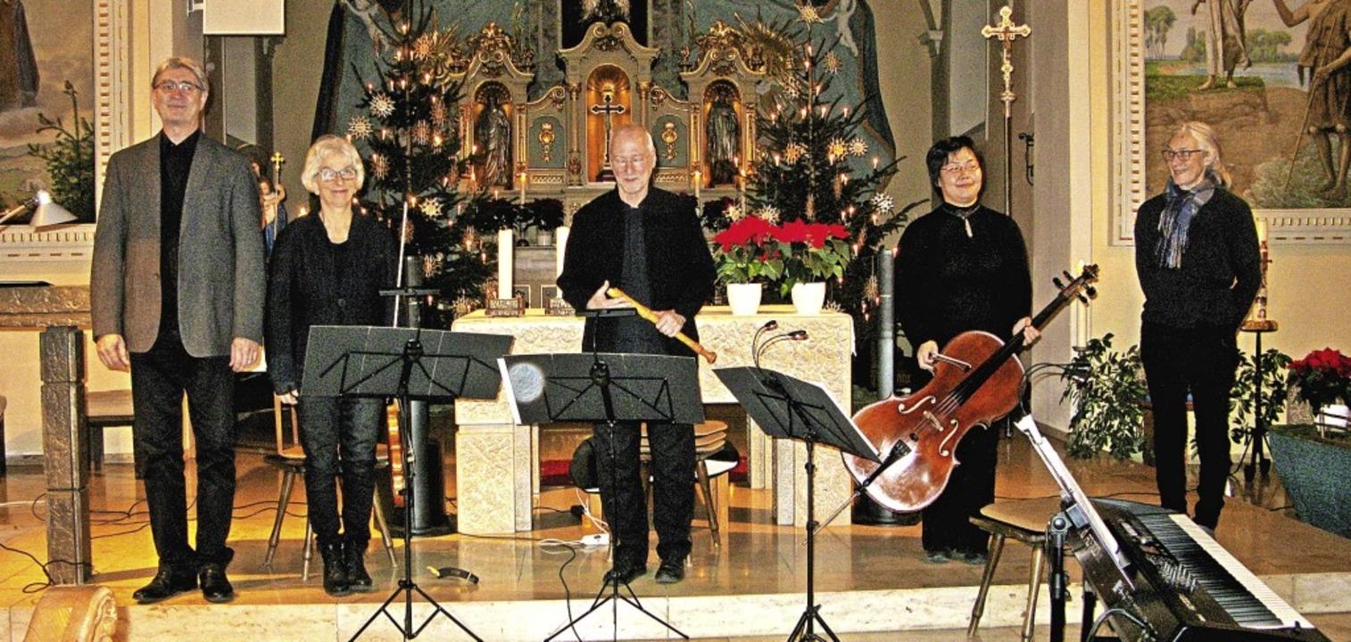 Das Ensemble BernauBarock (von links):... MikaTamura und Ursula Wäschle-Weiger.  | Foto: Ulrike Spiegelhalter