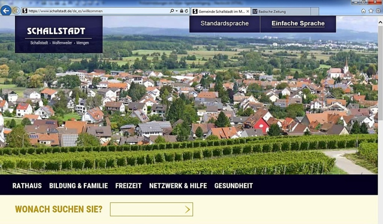Als erste Gemeinde im Landkreis Breisg...erständlicherer   Sprache angeboten.    | Foto: Repro:Gemeinde Schallstadt