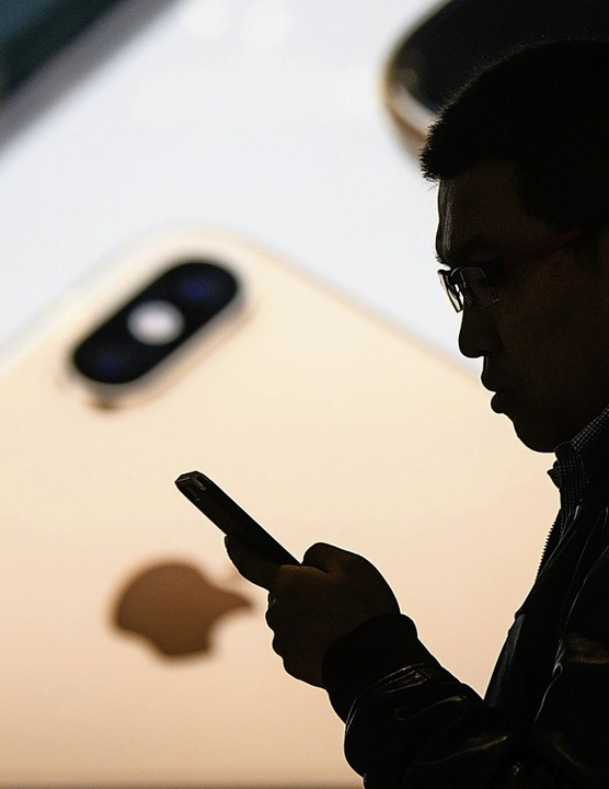 In China werden deutlich weniger iPhones verkauft.   | Foto: AFP