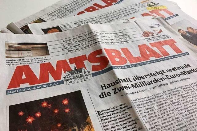 Verein Freiburg Lebenswert kritisiert die Berichterstattung des Freiburger Amtsblatts