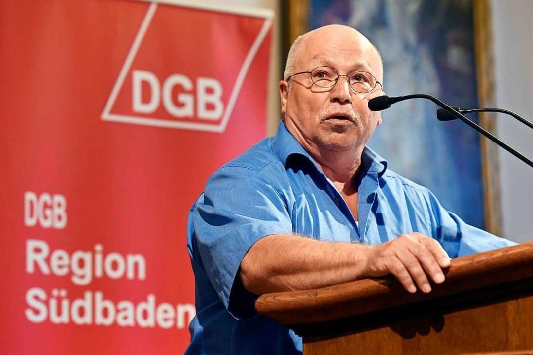 Werner Siebler im vergangenen April im Historischen Kaufhaus  | Foto: Thomas Kunz