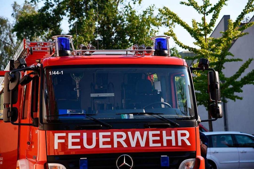 Feuerwehreinsatz in Lörrach wegen eines brennenden Baums (Symbolbild)  | Foto: Jonas Hirt
