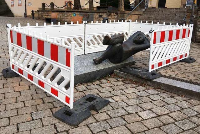 Skulptur in Müllheim angefahren – Verursacher beichtet in der falschen Stadt