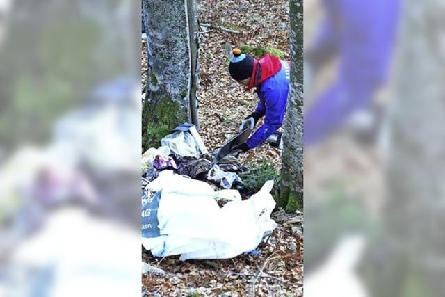 Illegal Müll entsorgt