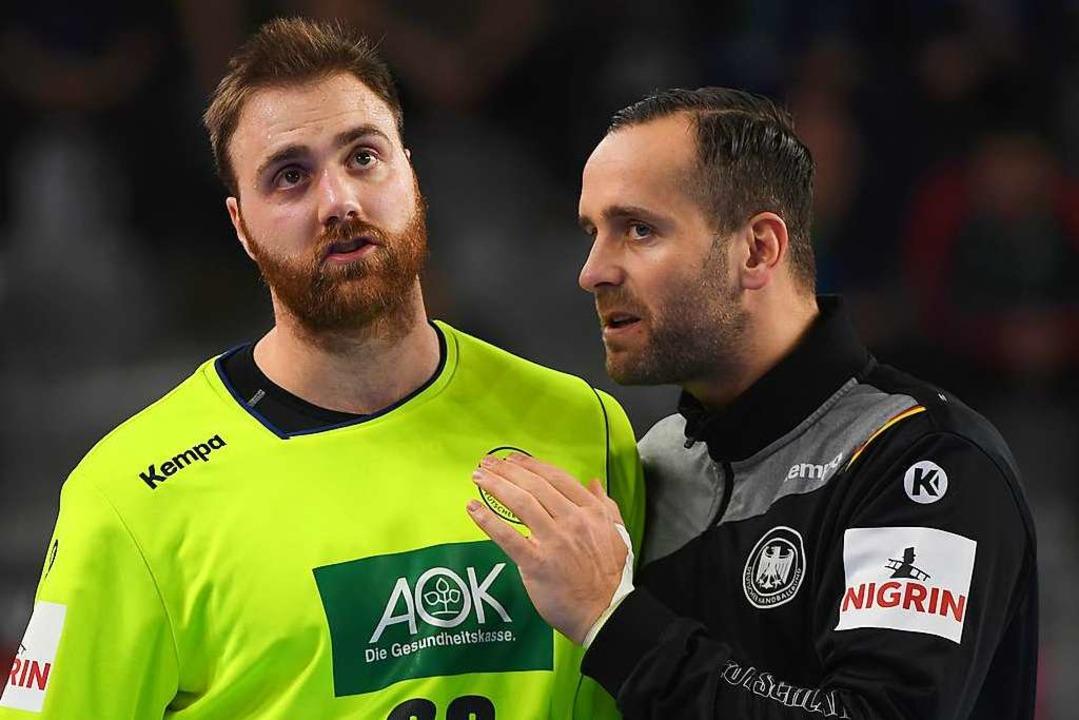 Stammtorhüter Andreas Wolff (links) un...mer zwei im Kasten, Silvio Heinevetter  | Foto: dpa
