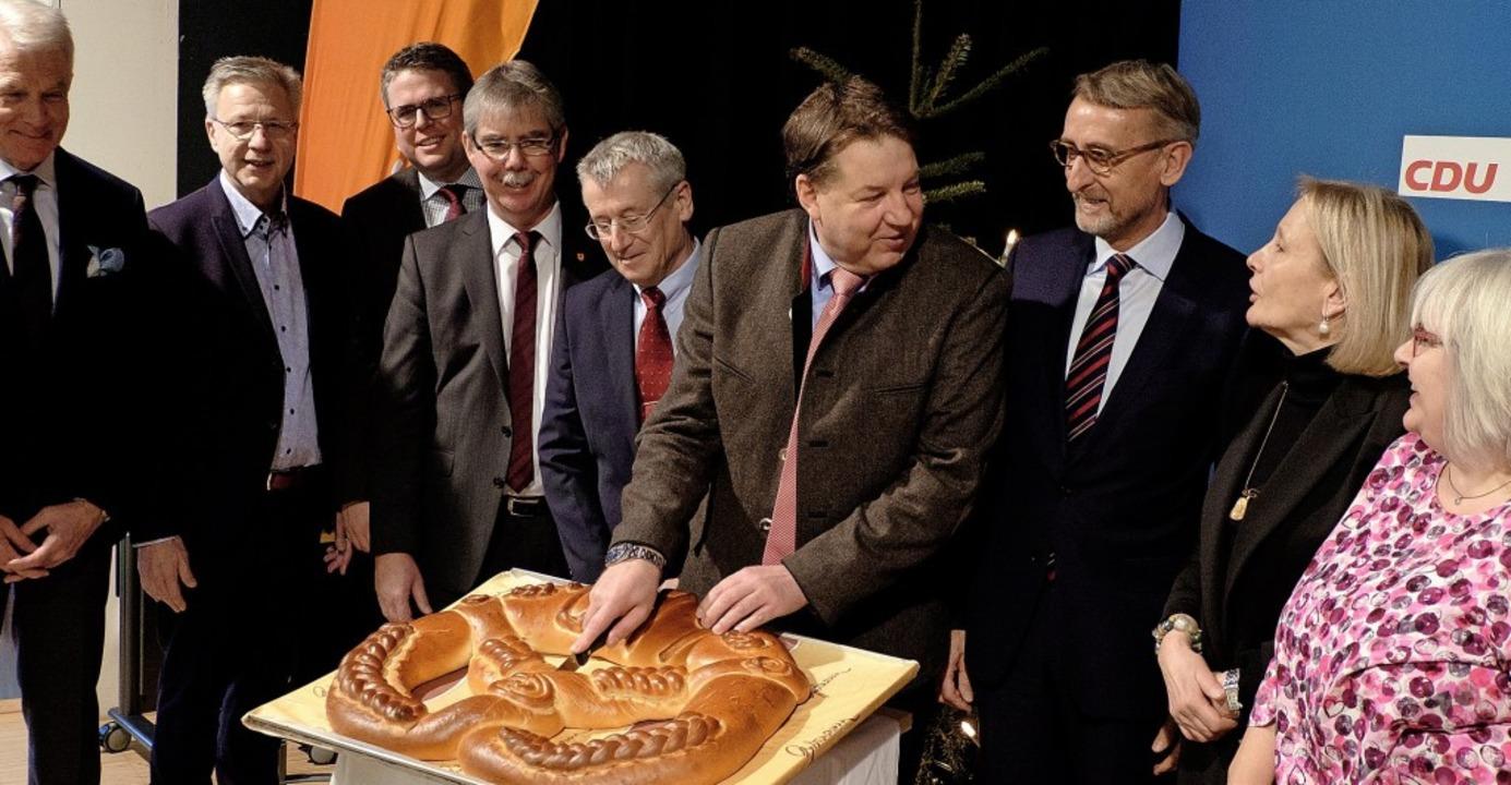 Beim  Empfang der CDU in Kreis  und St... und  Mitglieder des Kreisvorstandes.     Foto: Taschinski