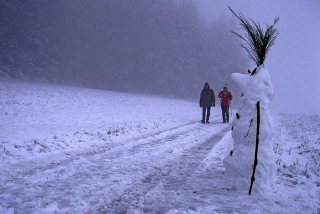Hurra, Schnee auf dem Geisberg