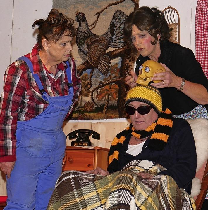 Sie will, dass Hugo Lungenzug stirbt (...ga Fliegauf, gespielt von Elli Straub.  | Foto: Eva Korinth