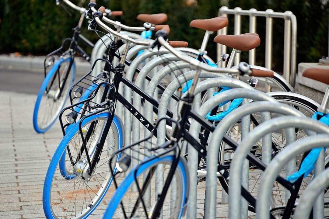 Die Räder mit den markanten Reifen können von Freiburgern abonniert werden.  | Foto: Michael Bamberger