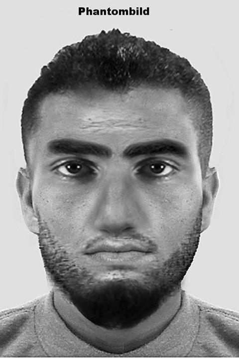 Mit einem Phantombild sucht die Polize...lften Täter der Gruppenvergewaltigung.  | Foto: Polizei