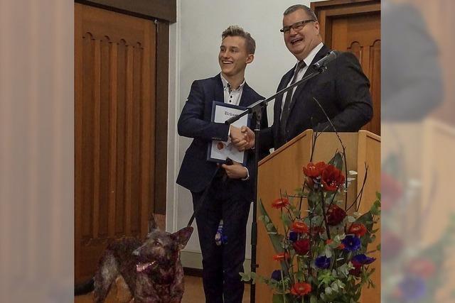 Ehrenplakette für Rudi Nadler