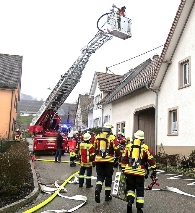 Brand Hauß Bischoffingen  | Foto: Patrick Kerber