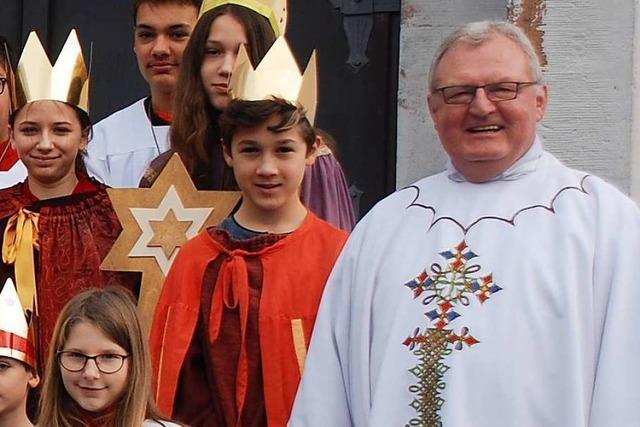 Dankgottesdienst mit den Sternsingern und Verabschiedung des Pfarrers