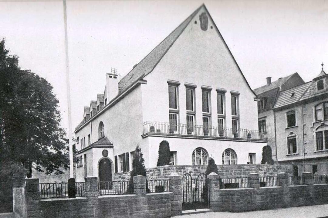 Nach den Plänen von Architekt Hermann ...n der damaligen Schillerstraße gebaut.  | Foto: Archiv Corps Suevia Freiburg