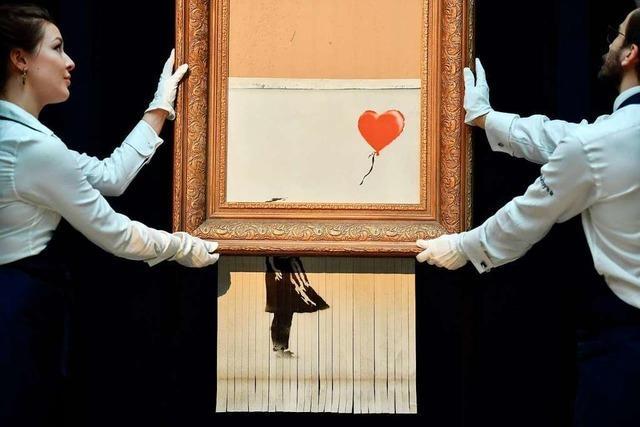 Halb geschreddertes Banksy-Bild wird in Baden-Baden gezeigt