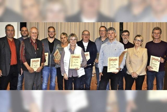 Treue Mitglieder im Sulzer Turnverein