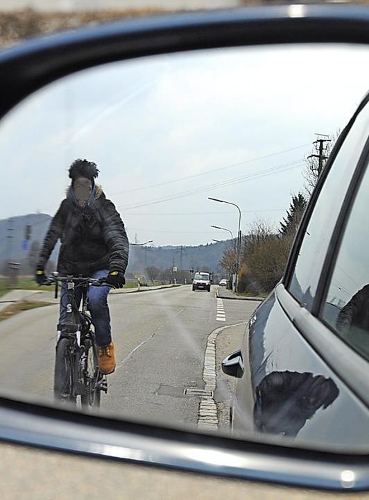 Mehr Sicherheit für Radler in Schopfheim fordert ein Leserbriefschreiber.  | Foto: Nicolai Kapitz