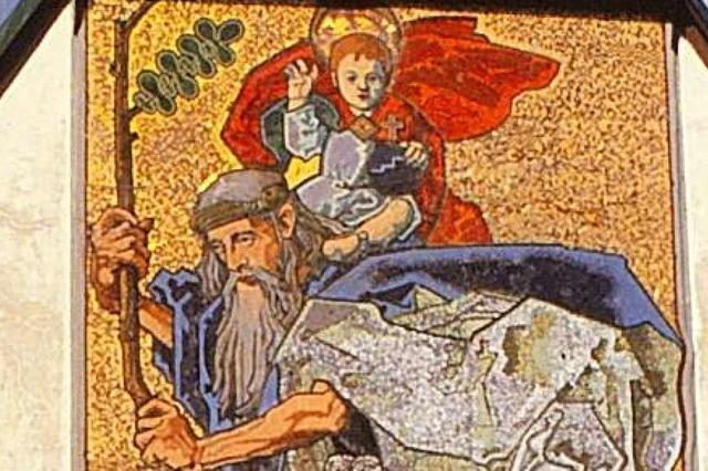 Christopherus, der Heilige, der Christus auf den Schultern trug