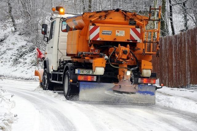 Schnee bremst Freiburger Buslinie 17