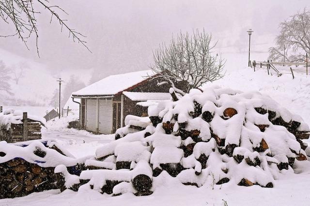 Winter satt in den Höhen des Wiesentals