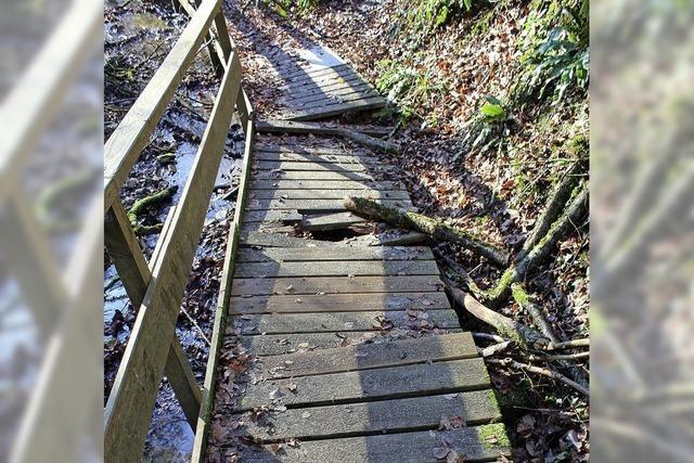 Stege im Ruschbachtal beschädigt