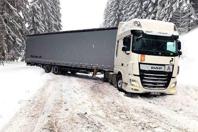 Unfälle, Stau, Verspätungen: Das ist die erste Bilanz des Wintereinbruchs im Schwarzwald