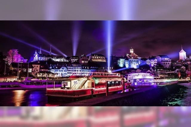 DIe Schweizer Stadt Murten feiert den Januar mit einem Lichterfestival