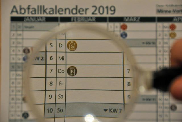 Abfallkalender im Kreis Lörrach soll für 2020 überarbeitet werden