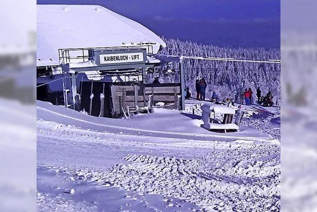 Auf dem Kandel haben die Skilifte geöffnet