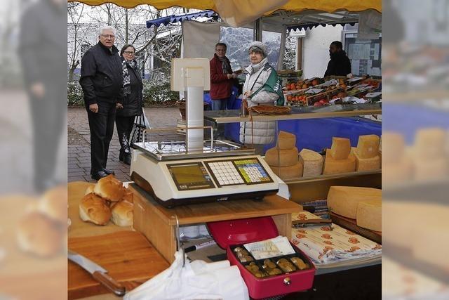 Ein kleiner Wochenmarkt für Wallbach