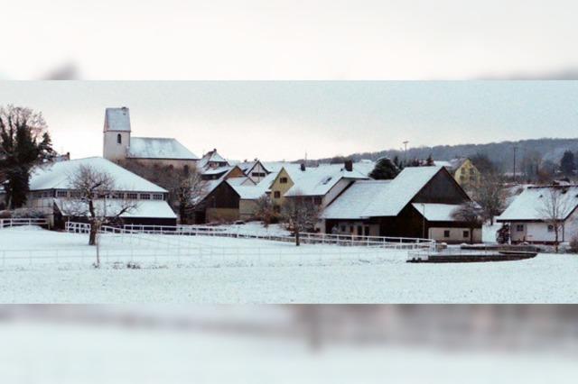 Dorf mit Zuckerguss