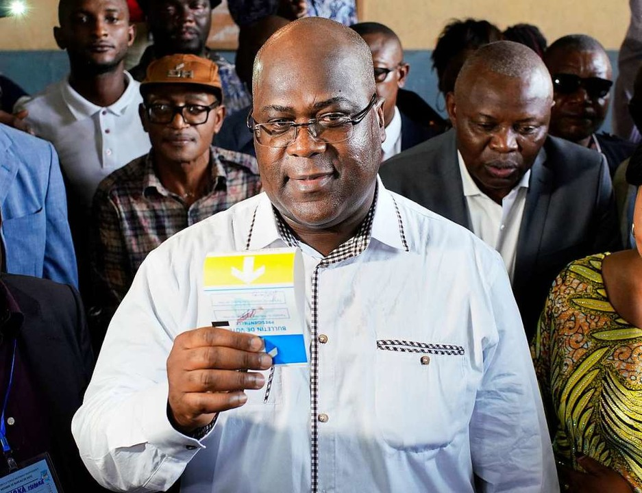 Félix Tshisekedi, oppositioneller Präs...räsidentenwahlen, soll gewonnen haben.  | Foto: dpa