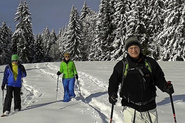Schneeschuh-Halbtageswanderungen auf dem Belchen mit BZ-Card-Rabatt