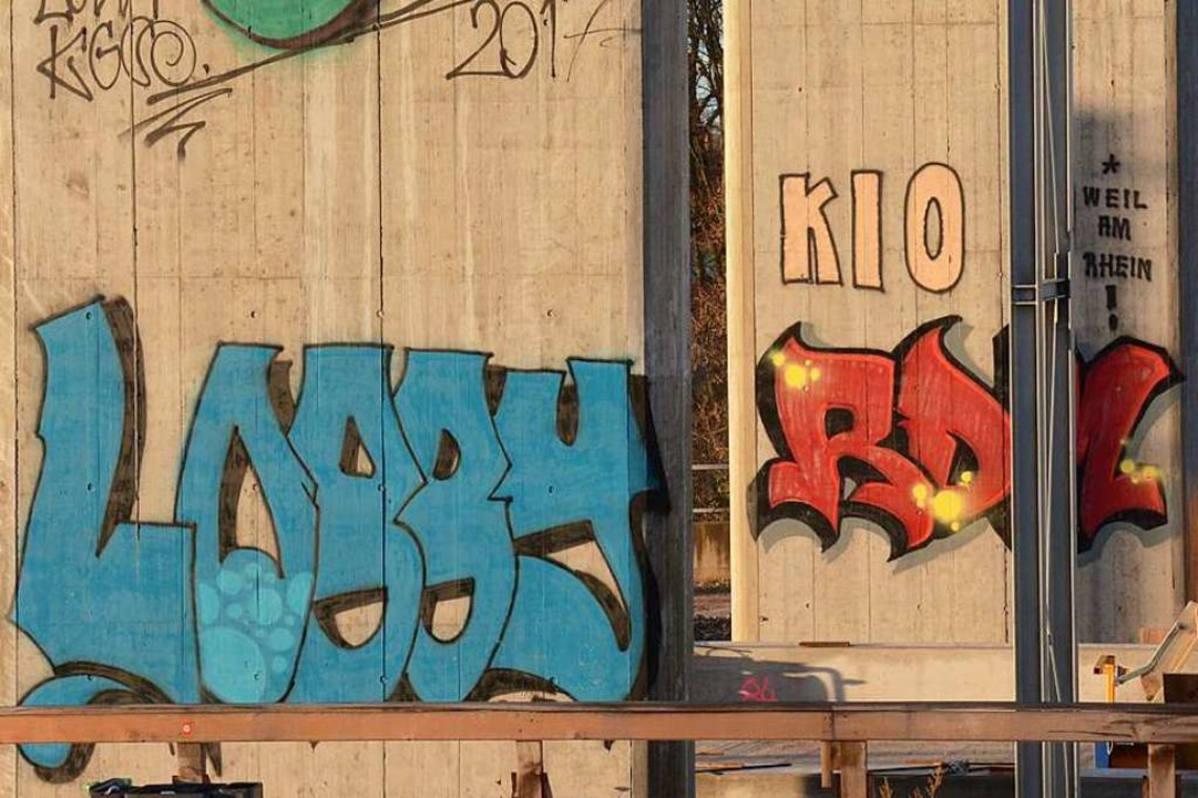 Grafitti am Haltinger Steg  | Foto: Hannes Lauber