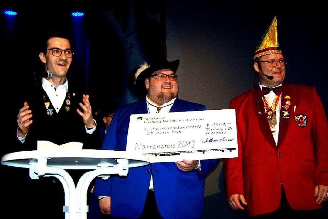 Im November wurde OB Martin Horn von M...s der Freiburger Narren ausgezeichnet.  | Foto: Hans Sigmund