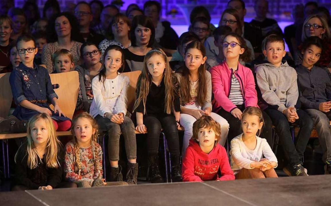 Kinder saßen beim Neujahrsempfang in der ersten Reihe  | Foto: Christoph Breithaupt
