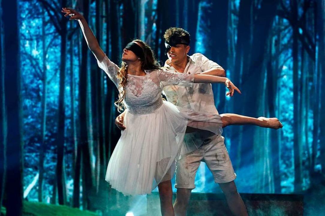 Im Finale tanzte Kristina Andreev mit Augenbinde.  | Foto: ProSieben
