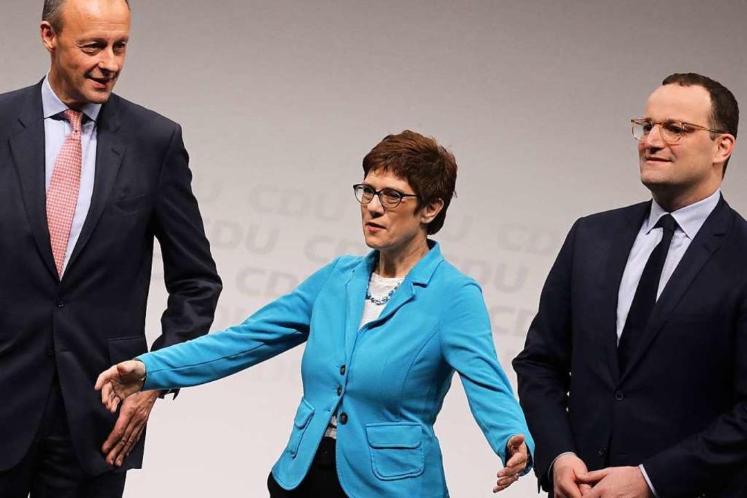 Die CDU-Regionalkonferenzen, bei denen... für innerparteiliche Urteilsbildung.   | Foto: DPA
