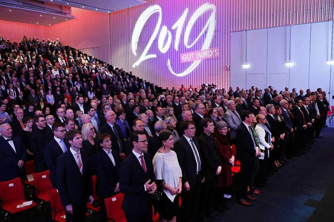 Kein Offenburger Neujahrsempfang, der ...: 960 Gäste füllte die Oberrheinhalle.  | Foto: Christoph Breithaupt