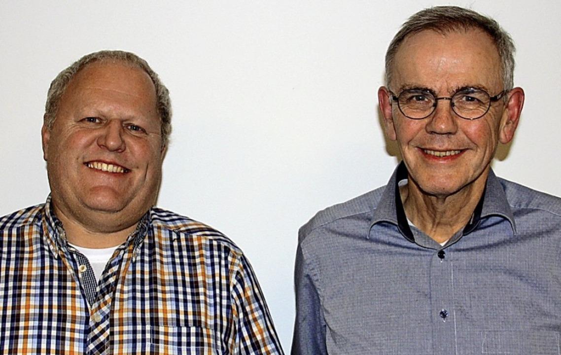 Uwe Straky (rechts) löst Otmar Joseph als Vorsitzenden der IG Elz ab.  | Foto: Christiane Franz