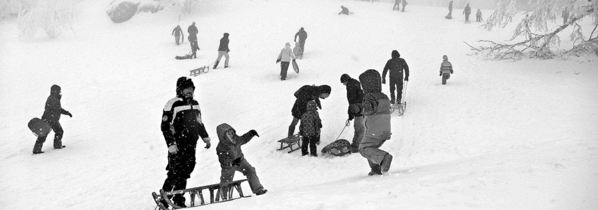 Beste Bedingungen boten sich  am Wochenende für Rodler auf dem Kandel.    Foto: Christian Ringwald