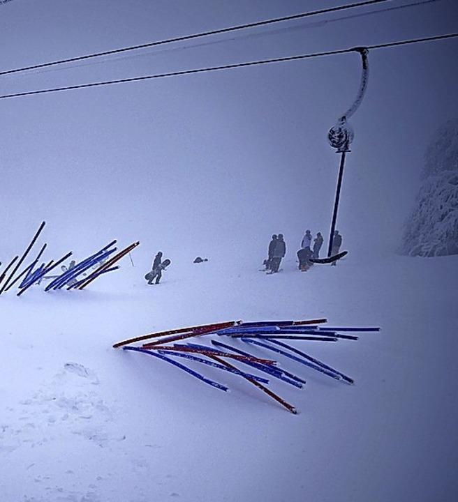 Gestern stand der Skilift wegen Stromausfall am Kaibenloch still.    Foto: Christian Ringwald