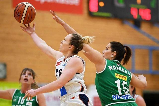 Freiburgs Erstliga-Basketballerinnen schlagen den deutschen Meister 88:73 und bewerben sich um Pokal-Endturnier