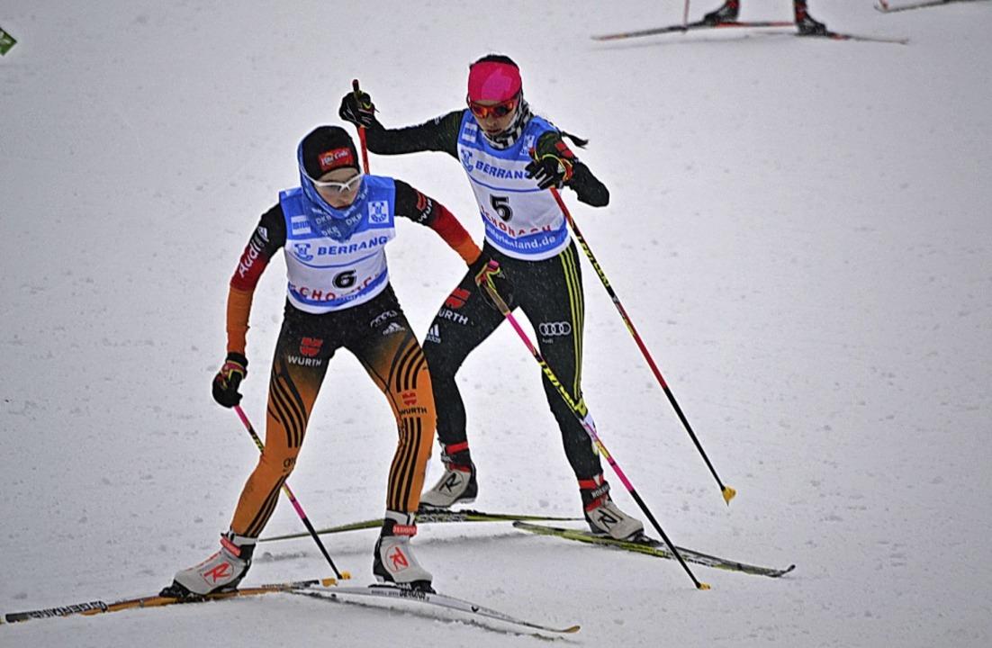 Anna Jäkle vom Skiteam Schonach-Rohrha...hen Kombination zweimal auf Rang zwei.  | Foto: junkel