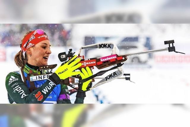 Starke Biathletinnen beim Heim-Weltcup in Oberhof