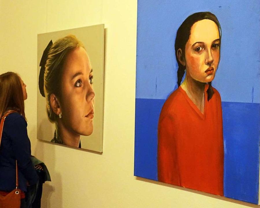 "Ausdrucksstarke Porträts und Figurenbi...Ausstellung ""Grand Salon"".  | Foto: Roswitha Frey"