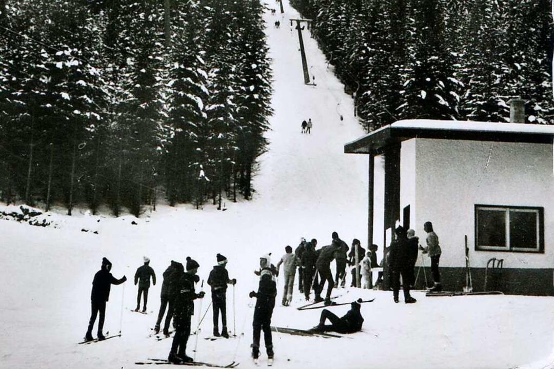 Liftbetrieb am Maiwiesenlift 1969  | Foto: Roland Weis